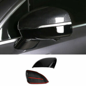 ABS Carbon Fiber Exterior Rear View Mirror Cover Trim 2PCS For Kia Sorento 2021