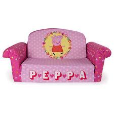 Marshmallow Furniture Children's 2 in 1 Flip Open Foam Kids Sofa, Peppa Pig