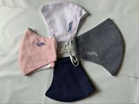 Set 4 Reusable Fabric Cotton Face Mask. Washable 30 Times. Ship Fast From US
