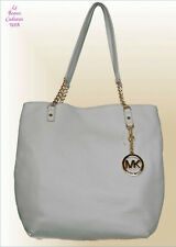 NWT MICHAEL KORS Vanilla SHOULDER LEATHER TOTE BAG Jet Set Chain