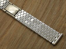 "Vintage 17mm Spring Link Expansion watch band Bracelet Stainless Steel 6"" long"