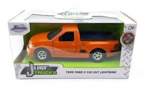 Brand New Jada Just Trucks 1:32 Scale 1999 Ford F-150 SVT Lightning Orange