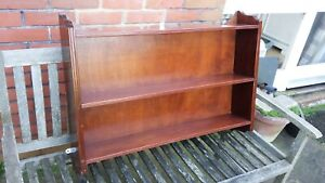 Large Vintage Mahogany Wall Shelves.