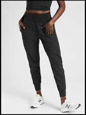 NEW ATHLETA BLACK DISTANCE JOGGER IN DOBBY LARGE TALL