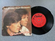 """PHIL EVERLY & CLIFF RICHARD - SHE MEANS NOTHING TO ME - 7"""" VINYL SINGLE - P/S"""