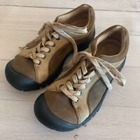 Keen Brown 2 Tone Leather Lace Up Sneakers Oxfords Shoes Womens Size 7