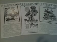 Pressbook lot of 3 Vengeance of She, Prehistoric Women, Viking Queen F-VF comp
