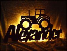 Traktor Lampe Nachtlicht mit Name nach Wunsch - Geschenke für Trekker Fans