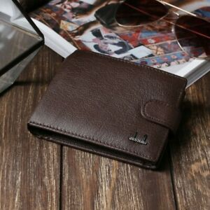 Brown Wallet For Men 2 Compartments Card Holder Coin Holder
