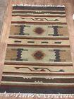 Vintage Retro Aztec Pattern Wool Rug 6ft X 4ft