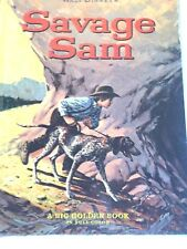 Vintage Disneyana Children'S Books Savage Sam Big Golden Book 1963 Lithographed