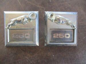 81-93 DODGE RAM RAMCHARGER D250 W250 FENDER EMBLEMS BADGES OEM PAIR