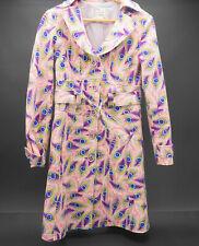 Nanette Lepore Womens Designer Spring Trench Coat USA Made Size 4 Peacock RARE