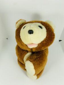 "Romper Room Huggy Bear Plush 1979 Teddy 10"" Stuffed Animal Toy Hugs Hasbro VTG"