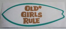 Old Girls Rule Snowboard Tavola da Surf Auto Camper Frigo Adesivo Decalcomania 200mm