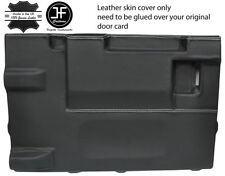 WHITE STITCH TAILGATE DOOR CARD LTHR COVER FOR LAND ROVER DEFENDER 90 03-17 3DR