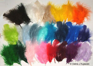 """Quality 3-8"""" L  Fluffy Marabou Feathers in 30 colors 7 grams (1/4 oz) Approx 35"""