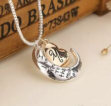 MOM - I LOVE YOU TO THE MOON AND BACK NECKLACE & PENDANT Great Mother's Day Gift