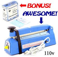 Desk Type Impulse Heat Sealer - Free 400 Sterilization Pouches - 110v