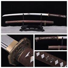 Japanese Military Samurai Sword Katana Pattern Steel Sharp Blade Folded Forging
