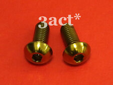 2pcs M5 x 12mm Gold Titanium/Ti Bolt Fit Bontrager FSA Elite Carbon Bottle Cage