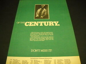TEDDY PENDERGRASS of century TOUR DATES w/ Isley Brothers 1978 PROMO POSTER AD