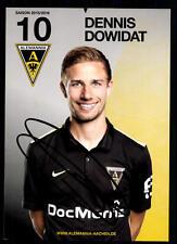 Dennis Dowidat Autogrammkarte Alemannia Aachen 2015-16 Original Sign+A 116010