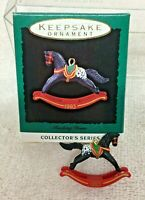 1993 Rocking Horse #6 Miniature Hallmark Christmas Tree Ornament MIB Price Tag