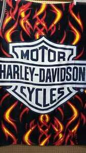 Harley Davidson Chrome Badge Beach Towel