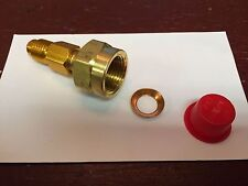 "Yellow Jacket, Vacuum Pump Adapter, 1/2"" Female Flare x 1/2"" Male ACME R134a"
