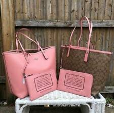 Authentic Coach Reversible City Tote in Signature F36658 - Light Pink