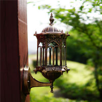 Retro Antique Vintage Lantern Lamp Wall Sconce Light Fixture Porch Patio Outdoor
