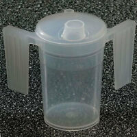 Two Handled Plastic Feeding Cup With Spout - Adult Beaker - Drinking Aids