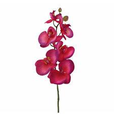 En soie artificielle orchidée tige Latex 75cm rose bonbon cerise avec 6 fleurs