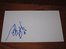 Doug Barkley Autographed 3X5 Index Card- Red Wings