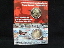 Slowenien 2 + 2 Euro Gedenkmünzen 2011+2012  Coincard PP TOP RAR