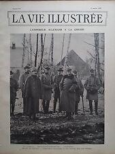 LA VIE ILLUSTREE 1902 N 168 L'EMPEREUR ALLEMAND GUILLAUME II A LA CHASSE