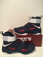 Nike Lebron Zoom Soldier 10 SFG USA Olympic Navy White Red Size 9.5 844378 416