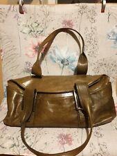 KENNETH COLE NEW YORK extra large Brown/Green leather shoulder bag