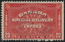 """Canada Scott E5: 20c Henna Brown """"20 CENTS"""" Special Delivery Issue, VF-CDS"""