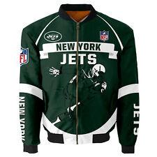 New York Jets Pilot Bomber Jacket Flying Tigers Flight Thicken Unisex Coat Gifts