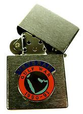 GULF WAR 1991 SCROLL TYPE VETERANS  WINDPROOF CHROME PLATED LIGHTER