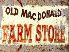 "TIN SIGN ""Old MacDonald"" Farm Deco Garage Wall Decor"