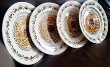 """4 Rare (1960s) Broadhurst """"Autumn Glen"""" Ironstone Dinner Plates by Kathie Winkle"""