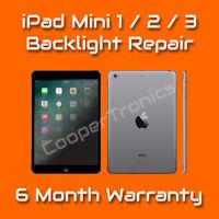 Apple iPad Mini 1 2 3 No Backlight Faint Dim Screen Fix Repair Service w/ Filter