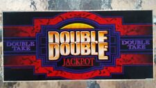 """Double Double""  Slot Machine Glass from a Nevada Casino - Frame or Back Light"