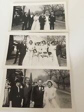 3 BW Black White Vintage Photographs Photos Wedding Photos 1941