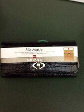 File Master Wallet Mundi,Clutch, Black Croc Pattern, Organizer,Smart Phone, NWT