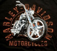 Harley Davidson Chrome Steed Black Shirt Nwt Men's Large
