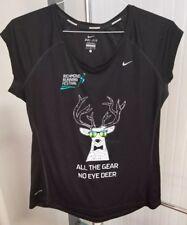 """Richmond Running Festival """"All the Gear No Eye Deer"""" London Nike Running Shirt L"""